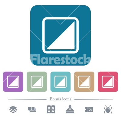 Invert object flat icons on color rounded square backgrounds - Invert object white flat icons on color rounded square backgrounds. 6 bonus icons included