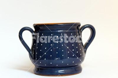 jam-term spotted kitchen decoration - a beautiful blue ceramic holder jam