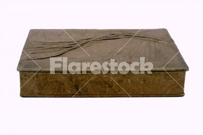 Jewellery box isolated on white - A jewellery box made of wood and art leather isolated on white