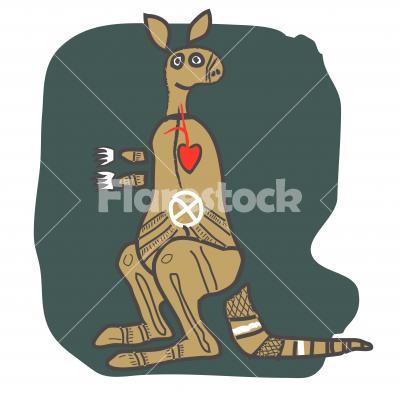 Kangaroo, cartoon figure - Kangaroo, cartoon figure. Design for t shirt, logo, bag, postcard, poster, illustration etc.