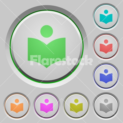 Library push buttons - Library color icons on sunk push buttons
