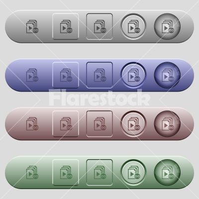 Link playlist icons on horizontal menu bars - Link playlist icons on rounded horizontal menu bars in different colors and button styles