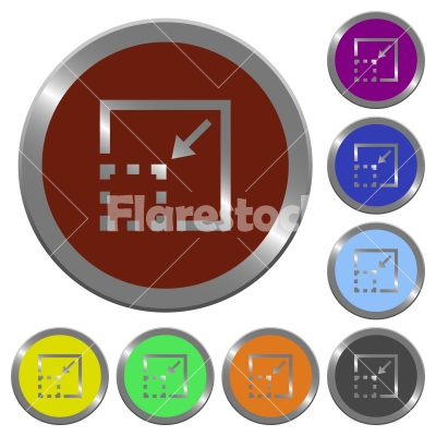 Minimize element color buttons - Minimize element icons in color glossy coin-like buttons - Free stock vector
