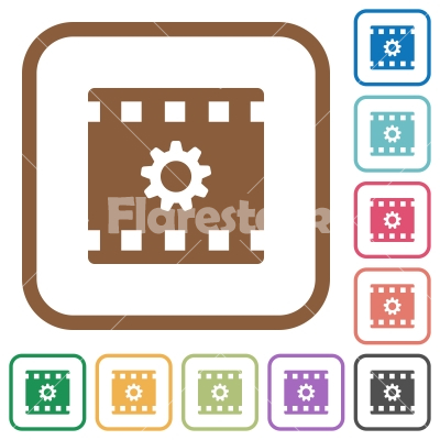Movie settings simple icons - Stock vector - Flarestock