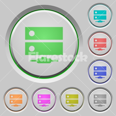 Network drive push buttons - Network drive color icons on sunk push buttons