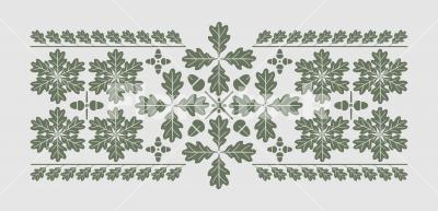 Oak leaf pattern - Oak leaf pattern design for many kinds of decorative purposes. The elements can be assembled to a variety of embellishments.