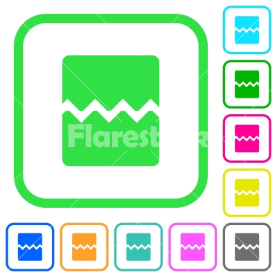 Page break vivid colored flat icons - Page break vivid colored flat icons in curved borders on white background