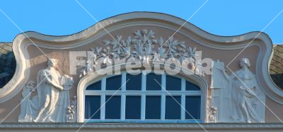 Pediment - artistic gable top of the house