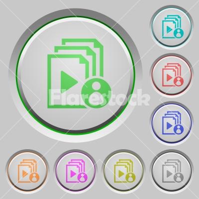 Playlist author push buttons - Playlist author color icons on sunk push buttons