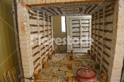 Pottery kiln - The interior of a modern pottery kiln