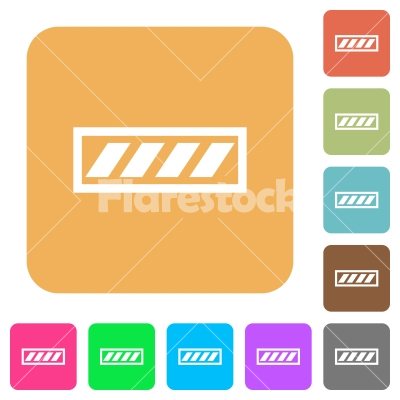 Progress bar rounded square flat icons - Progress bar flat icons on rounded square vivid color backgrounds.