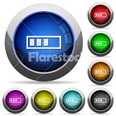 Progressbar button set - Set of round glossy progressbar buttons. Arranged layer structure.