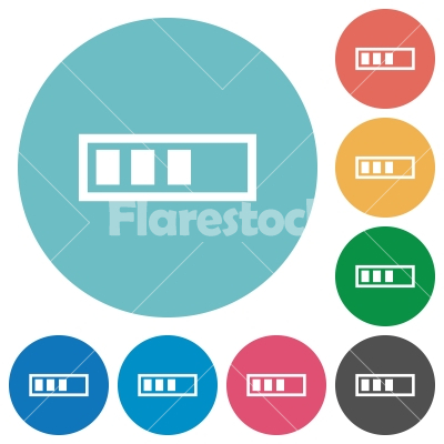 Progressbar flat round icons - Progressbar flat white icons on round color backgrounds - Free stock vector
