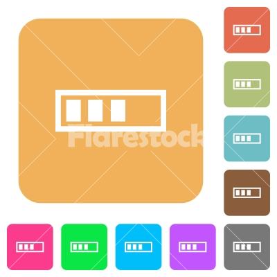 Progressbar rounded square flat icons - Progressbar flat icons on rounded square vivid color backgrounds.