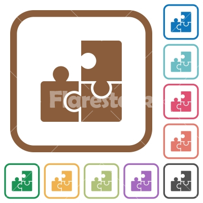 Puzzles simple icons - Stock vector - Flarestock