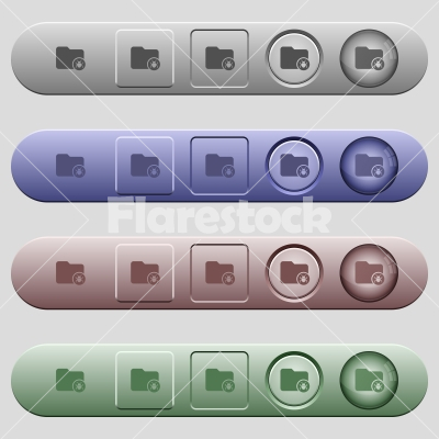 Quarantine directory icons on horizontal menu bars - Quarantine directory icons on rounded horizontal menu bars in different colors and button styles