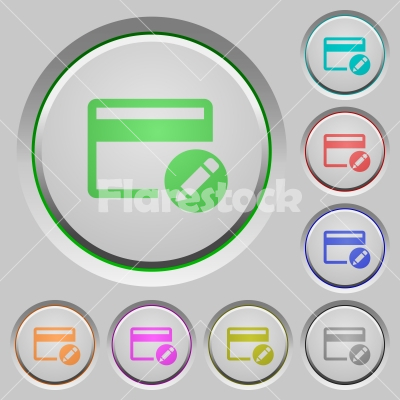 Rename credit card push buttons - Rename credit card color icons on sunk push buttons