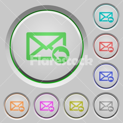 Reply mail push buttons - Reply mail color icons on sunk push buttons