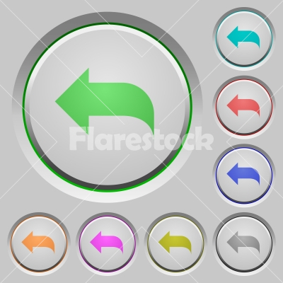 Reply to mail push buttons - Reply to mail color icons on sunk push buttons - Free stock vector