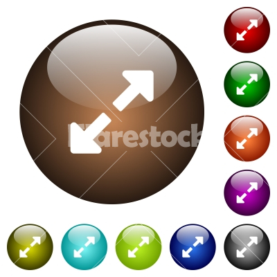Resize full color glass buttons - Resize full white icons on round color glass buttons