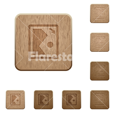 Rotate image right wooden buttons - Rotate image right on rounded square carved wooden button styles
