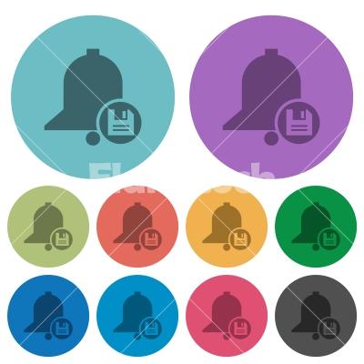 Save reminder color darker flat icons - Save reminder darker flat icons on color round background