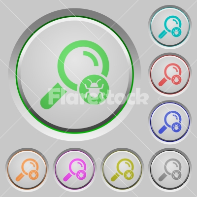 Scanning for malware push buttons - Scanning for malware color icons on sunk push buttons