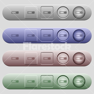 Search box icons on menu bars - Search box icons on rounded horizontal menu bars in different colors and button styles