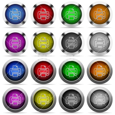 set of color print web buttons set of 16 round glossy color print web buttons