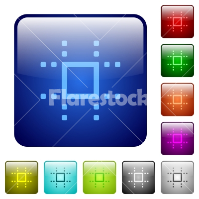 Snap to grid color square buttons - Snap to grid icons in rounded square color glossy button set
