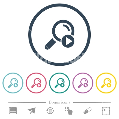 Start search flat color icons in round outlines - Start search flat color icons in round outlines. 6 bonus icons included.