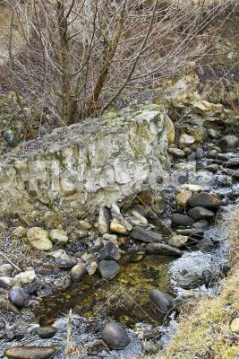 Stony stream - Little stream with lot of stones