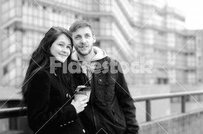 Sweet Coffee - Takeaway coffee with boyfriend in the city.