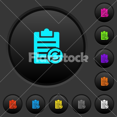 Syncronize note dark push buttons with color icons - Syncronize note dark push buttons with vivid color icons on dark grey background