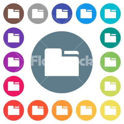 Tab folder flat white icons on round color backgrounds - Tab folder flat white icons on round color backgrounds. 17 background color variations are included.