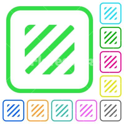 Texture vivid colored flat icons - Texture vivid colored flat icons in curved borders on white background