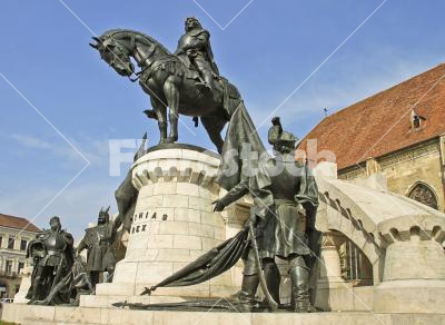 The statue of king Matthias Corvinus - The statue of Matthias Corvinus in Cluj-Napoca, Transylvania, Romania
