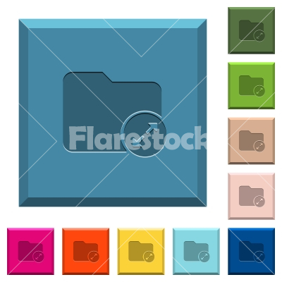 Uncompress directory engraved icons on edged square buttons - Uncompress directory engraved icons on edged square buttons in various trendy colors
