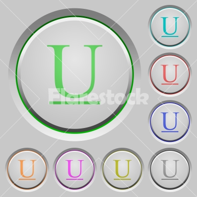 Underlined font type push buttons - Underlined font type color icons on sunk push buttons
