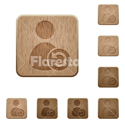 Undo user account changes wooden buttons - Undo user account changes on rounded square carved wooden button styles