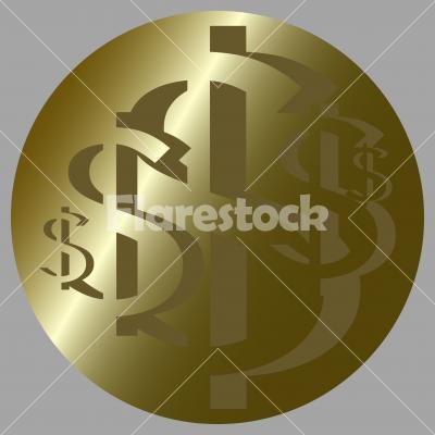 US Dollar Rosette No. 6. - US Dollar Rosette No. 6. Design for logo, illustration, bag, ads, etc.