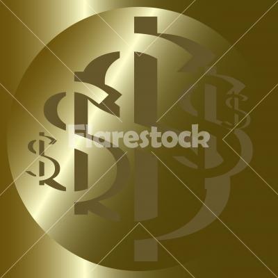 US Dollar Rosette No. 7. - US Dollar Rosette No. 7. Design for logo, illustration, bag, ads, etc.