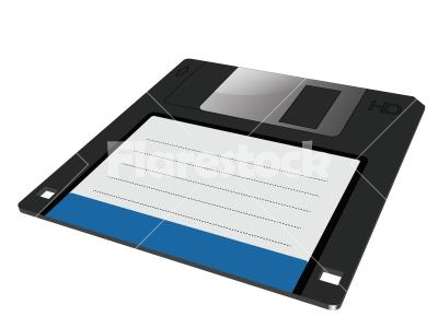 Vector graphic of a floppy in 3D - Vector graphic of a traditional floppy disk in three dimensions