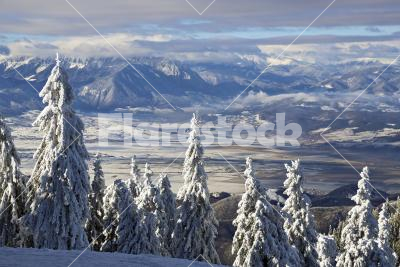 View on the Southern Carpathians - View on the Southern Carpathians at 1800 meters - King's stone, Romania
