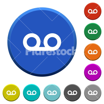 voicemail beveled buttons stock vector flarestock