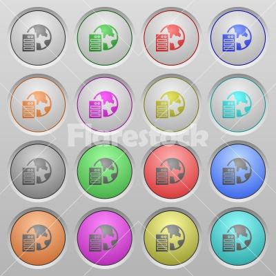 Web hosting plastic sunk buttons - Set of web hosting plastic sunk spherical buttons.