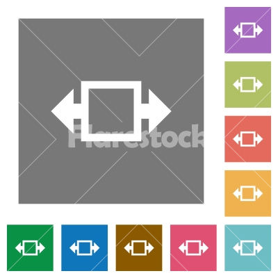 Width tool square flat icons - Width tool flat icons on simple color square backgrounds - Free stock vector